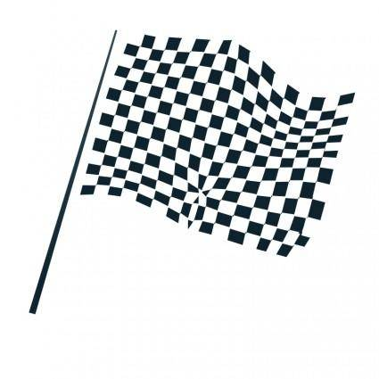 free vector Chequered flag icon
