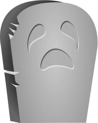 free vector Halloween Tombstone Face