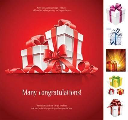 Beautiful gift box vector 1030