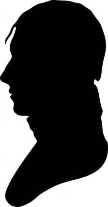 free vector Silhouette of man facing left, no. 4
