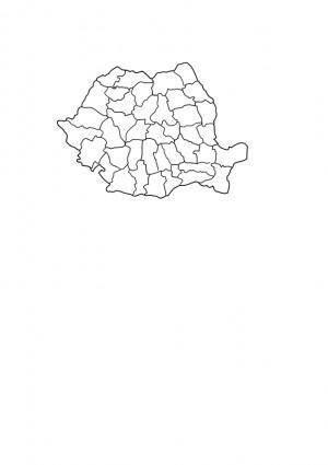 Romania map bw