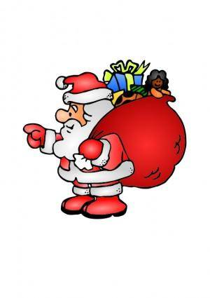 free vector Santa Claus with his bag