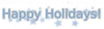free vector Happy Holidays (with Snowflakes)