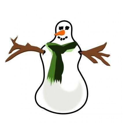 free vector Snowman no shadow