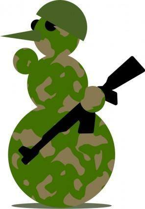 free vector Snowman-Militarist by Rones