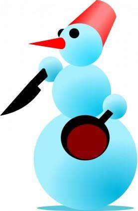 free vector Snowman-Cannibal by Rones