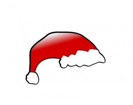 free vector Red santa claus hat