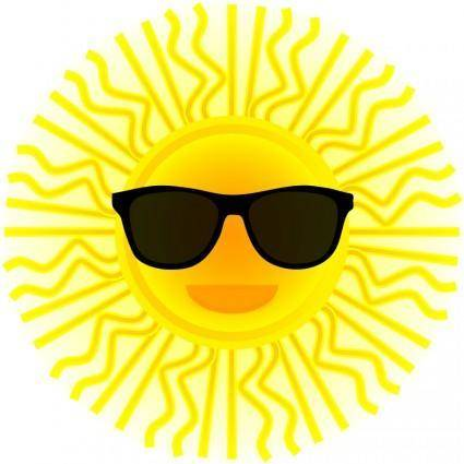 Sun with sunglasses