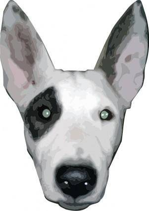 free vector HighRes, Bullterrier head