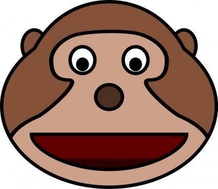 free vector Monkey head