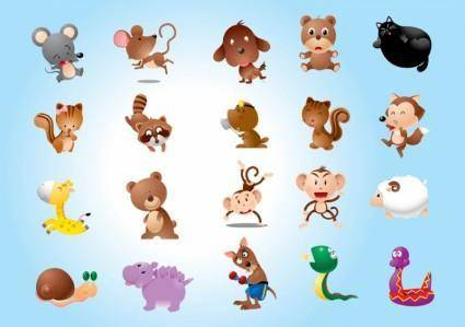free vector Animal Characters Vectors