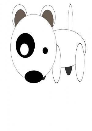 free vector Bullterrier head, bujung,Bull terrier cartoon,dog Bullterrier