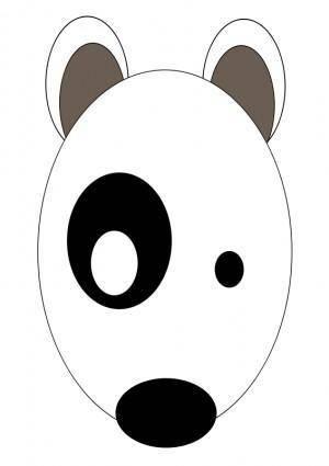 free vector # Bullterrier head, bujung,Bull terrier cartoon,dog Bullterrier