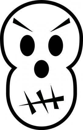 free vector Angry skull