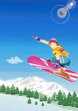 free vector Snowboard Kid