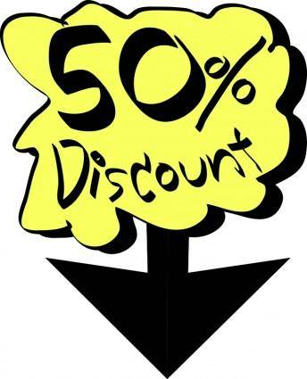 free vector 50% Discount