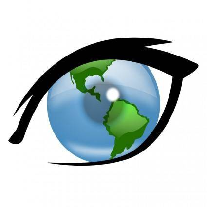 free vector Eye can see the world