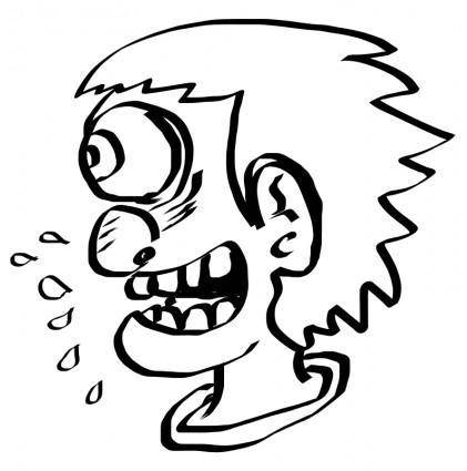 free vector Freehand Crazy Man