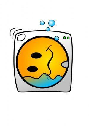 free vector Washing Machine Smiley
