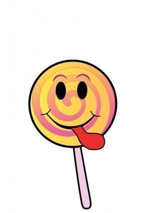 free vector Lollipop Smiley
