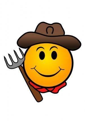 free vector Farmer Smiley