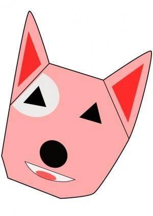 free vector Dog, Cartoon, Bull terrier
