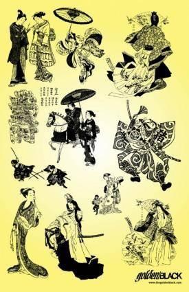 Samurai Geisha Illustrations