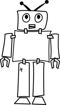 free vector Robot Line Art
