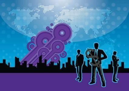 free vector Urban Business