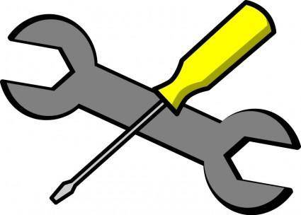 free vector Screwdriver and wrench icon