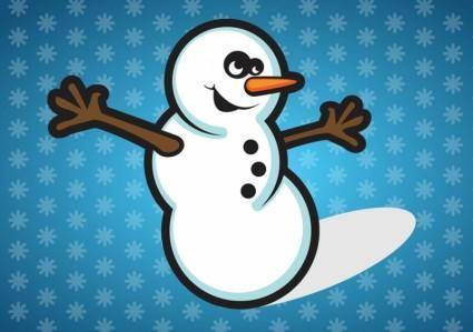 free vector Happy Snowman