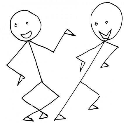 free vector Dance toon