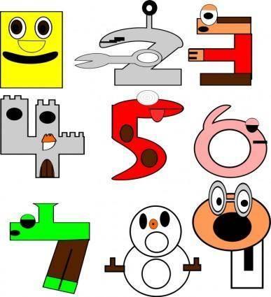 free vector Numbers