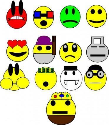 free vector Faces