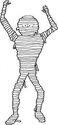 free vector Cartoon Mummy