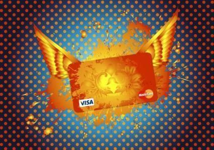 free vector Mastercard Visa Credit Card