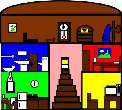 free vector Cartoon house