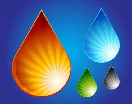 free vector Water Drop Graphics