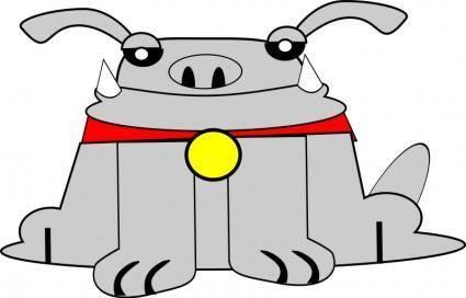free vector Daft dog