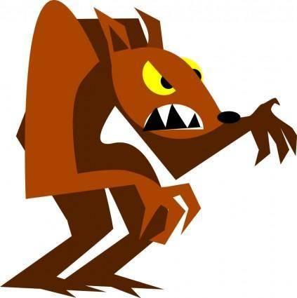 free vector Werewolf