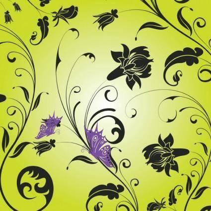 free vector Butterfly Garden