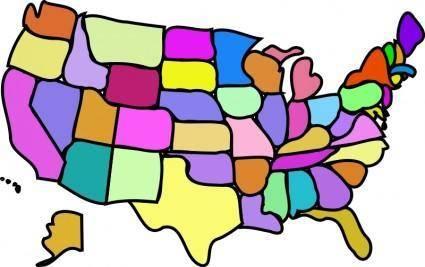 free vector U.S. Map, Cartoony