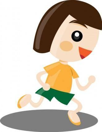 free vector Running girl