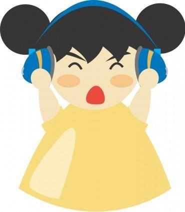Girl with headphone5