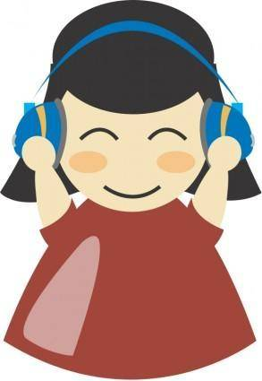 Girl with headphone4