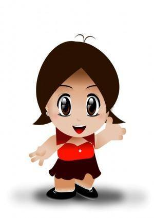 free vector Litle girl