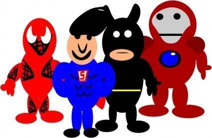 free vector Super heroes