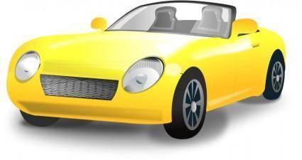 free vector Yellow Convertible sports car