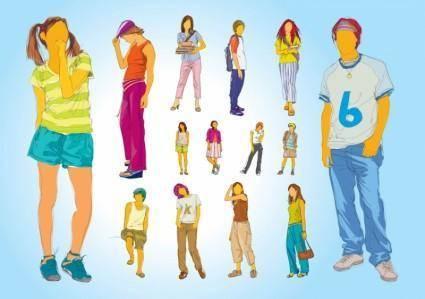 free vector Teenager Illustrations