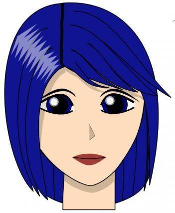 free vector Blue girl dirk struve